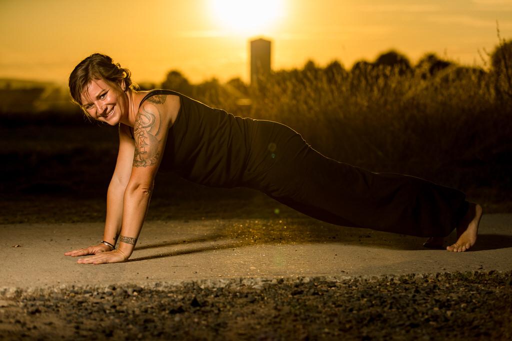 Yoga-Fotos mit Lehrerin Hannah